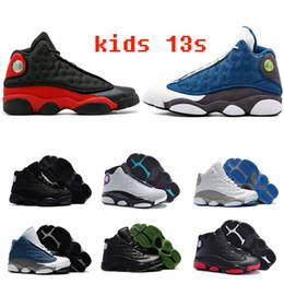 regalos de baloncesto para niños Rebajas Niños 13 13s zapatos de baloncesto niños Boy Girl 13s criados Chicago Flint Pink zapatillas deportivas niños regalo de cumpleaños de Navidad tamaño 28-45