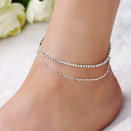 Fast Deliver Rose Gold Stainless Steel Lucky Star Anklet Foot Ankle Chain Bracelet Gift Pe13 Anklets Fashion Jewelry