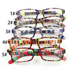 2019 vendita calda moda colorata lettura occhiali anziani +1.0 +1.5 +2.0 +2.5 +3 +3.5 +4.0 D029 da