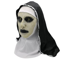 2019 Halloween The Nun Maschera Orrore Cosplay Valak maschere spaventose lattice Casco Integrale Casco puntelli costume demone Halloween Party da bambole di lattice fornitori