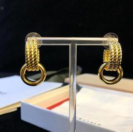 Femmes De Mariage De Luxe Boucles D'oreilles En Or 18K plaqué Or Gland Goujons D'oreilles De Luxe De Mode Cerceau Boucles D'oreilles cadeau ? partir de fabricateur
