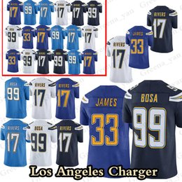 42e9471ce China 99 Joey Bosa Los Angeles Charger jersey 17 Philip Rivers 33 Derwin  James Top quality