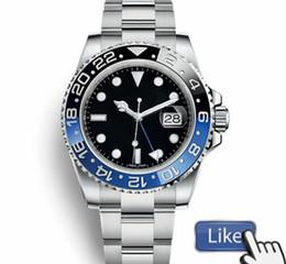 человек часы автоматические gmt Скидка Luxury GMT Керамический Безель Мужские Механические Из Нержавеющей Стали Автоматические Механические Часы Дизайнер Спортивные с автоподзаводом мужские Часы Наручные Часы Btime