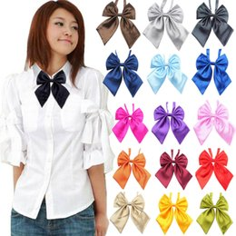 mensola di lana di bowtie Sconti Fashion Unique soft Womens Girls Novità BIG Bow confortevole Tie regalo di nozze L50 / 0107