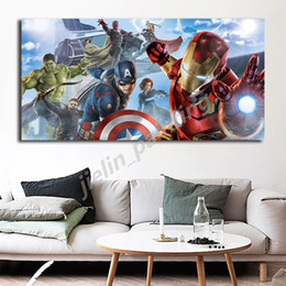 stampe d'arte meravigliose Sconti The Avengers pittura Marvel Superheroes Iron Man Poster e grafica decorativa Wall Art Immagini per Living Room Home Decor