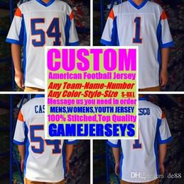 Пользовательские трикотажные изделия американского футбола New Orleans team колледж аутентичные ретро регби футбол бейсбол баскетбол хоккей джерси 4xl 5xl 6xl одежда от