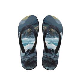 e060e6b94501a7 Design Herren Flip Flops Strand Marine Malerei Schuhe Außerhalb Sandalen  Flops Sandalen Mann Sommer Einfache Design Flop gemalte schuhe entwürfe  Angebote
