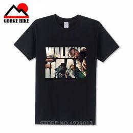 stil berühmte marke baumwolle männer Rabatt Berühmte Art wandelnde Tote 3D-gedrucktes T-Shirt aus 100% Baumwolle Männer T-Shirt beiläufige Eignung der Marke Bekleidung Tops Tees männlich 2019