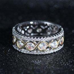 diseños de circones de anillos de oro Rebajas Anillo de circón de oro Anillos de racimo de cristal completo Anillos de boda de compromiso de línea de oro Nuevo diseño de joyería Fashioin para mujer 080494