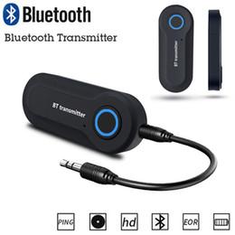 2019 adaptador de antena estéreo de carro Transmissor Sem Fio Bluetooth Estéreo Música 3.5mm Adaptador De Áudio Para GPS Do Carro Eletrônica Telefone TV PC GPS Acessórios adaptador de antena estéreo de carro barato