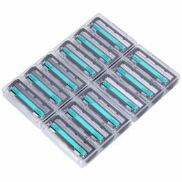 Ventas calientes al por mayor 12 unids / kit de alta calidad de los hombres cuchillas de afeitar cuchillas hoja de afeitar cuidado de la cara para los hombres Razor Kit tamaño normal D19011606 desde fabricantes
