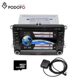dvd de passat Rebajas Podofo coches reproductor de DVD GPS Autoradio 2 DIN radio de coche de audio para el golf / 6 / Golf / 5 / Passat / B7 / cc / B6 / ASIENTO / leon / Tiguan / Skoda / Octavia