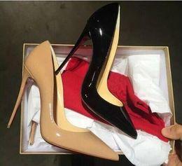 Ücretsiz teslimat, yüksek kalitede moda ve lüks bayan kırmızı-soled yüksek topuklar, rugan parti düğün ayakkabı orijinal kutu 34-43 # 30 nereden