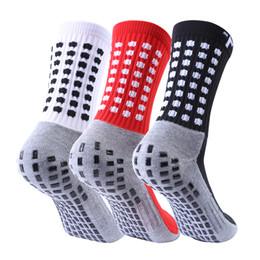 Meias de nylon de algodão on-line-2019 meias de futebol de vendas meias de futebol antiderrapante meias de futebol dos homens algodão de qualidade Calcetines com Trusox
