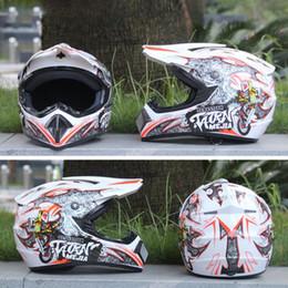 Защитная оболочка онлайн-3 ШТ. КОМПЛЕКТ Дышащий Шлем Легкий Анфас Гонки Мотоцикл Безопасности Мужчины Женщины ABS Shell Мотоцикл Спорт Шлем Протектор