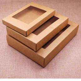 Temizle pvc pencere ile Kraft kağıt hediye kutusu paketi 50 adet nereden