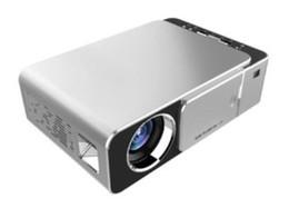 billige mini lcd projektoren Rabatt Neuer ursprünglicher T6 1280x720 LED Projektor 3500 Lumen Kurzdistanzprojektor Trapezkorrektur USB HDMI VGA Handelshaupttheater 1pcs DHL