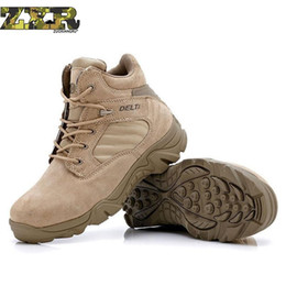 254e8d0942 Herbst Winter Militärische Taktische Stiefel Runde Kappe Männer Desert  Combat Boots Outdoor wanderschuhe Herren Leder Armee Ankle # 4619