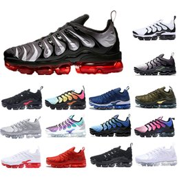 036dd8ec7b20 Blue TN Plus Air Cushion Running Shoes Grape Volt Sunset Red Shark Tooth  Triple Black White Red Zebra Mens women trainers Sports Sneaker