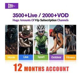 Deutschland SUBTV IPTV LIVE TV + VOD 10-Monats-Abonnement für Android Enigma, Mag25X, Smart-TV-Handy mit IOS TV, PAD Versorgung