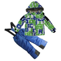 Canada Garçon En Plein Air Hiver Ski Veste + Pantalon Glace Neige Sports Skateboard Costume Ensemble -20 Degrés Combinaison De Ski Épaissir Enfants Vêtements D'hiver cheap snow pants boys Offre