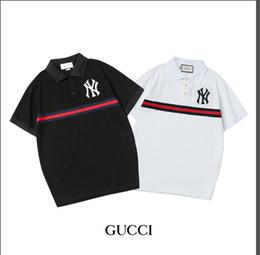 2019 roma black Cidade de moda masculina polo camisa bordada milan Roma Nova Iorque Paris Londres dubai Tokyo clássico polo camisa Ralph camisa preta e branca roma black barato
