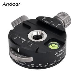 Trípodes panorámicos online-Andoer trípode de cabeza de bola panorámica PAN-60H de alta calidad con rotador de indexación AS tipo abrazadera para cámaras