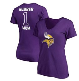 moms t shirt Coupons - Women's Minnesota Mothers Day Vikings Pro Line Royal #1 Mom V-Neck T-Shirt Gift For Mother Free Shipping