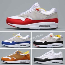 2020 chaussures de pastèque femmes Nouveau 87 Atmos 87 Anniversary Red Blue 1 Piet Parra 87 Premium lunar 1 DELUXE WATERMELON chaussures de course Femme Baskets Chaussures chaussures de pastèque femmes pas cher