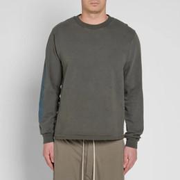 Langer cuffed pullover online-Mode-Herren Dunkelgrau Langärmelige Saison T-shirt Pullover Pullover Frauen Rippenmanschetten Bedruckte T-shirt