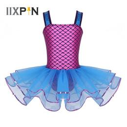 3d1547af5991 Pop 2019 Kids Girls Mermaid Dress Ballet Dance Wear Sequins Wide Shoulder  Straps Ballet Dress Dance Gymnastics Leotard Tutu