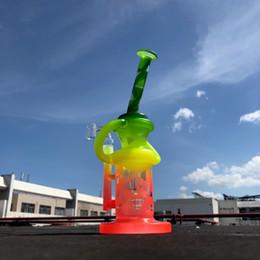 2019 tubos de água de vidro fosco 9 polegada de vidro inebriante dab equipamento exclusivo fosco projeto reciclador matriz de percolador de vidro tubo de água bong com banger de quartzo tubos de água de vidro fosco barato