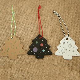 mensajes del arbol de navidad Rebajas Decoración navideña Etiqueta para hornear Decoración de regalo Ascensor Accesorios de bricolaje Árbol de Navidad Tarjeta de mensaje Accesorios de fiesta