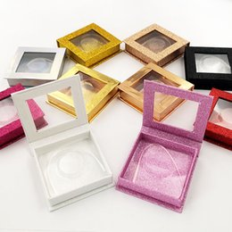 2019 empaque de pestañas 3D Mink Eyelash square Paquete Cajas Pestañas postizas Embalaje Caja de pestañas vacía Caja de pestañas Caja Herramienta de maquillaje 20 juegos empaque de pestañas baratos