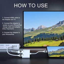 2019 Yeni Profesyonel HDMI Kablo Adaptörü Apple Arabirimi için 8 Pin HDMI Dijital AV Dönüştürücü iPad iPhone iOS için 12.3 11 nereden