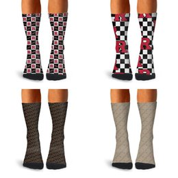 2020 chaussettes de sport marron Man Rutgers Scarlet Knights Lattice Football Red Socks Boot Coton Retro Athletic doux Fancy Luxe Brown Logo Billets Blanc Stripell chaussettes de sport marron pas cher