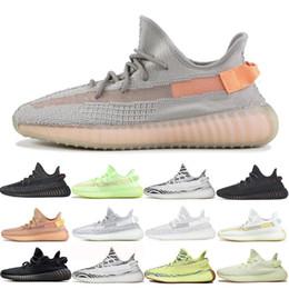 2019 размеры замороженной обуви 2020 Kanye West мужчины Desinger тройной бег на открытом воздухе обувь женщины тренеры замороженные желтый крем Зебра разводят Спорт Zapatos кроссовки размер 13 скидка размеры замороженной обуви