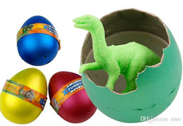 Venda de brinquedos de páscoa on-line-Dinossauro Ovos Dinossauro Easter Variedade De Animais 4.5 * 7 cm Ovos podem chocar para fora animais brinquedos criativos Venda Quente