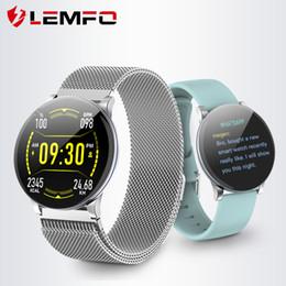 2020 relojes inteligentes lemfo Reloj elegante LEMFO mujeres de los hombres de pantalla táctil completa de la presión arterial monitor de ritmo cardiaco El tiempo Forcast Música Smart Control reloj deportivo rebajas relojes inteligentes lemfo
