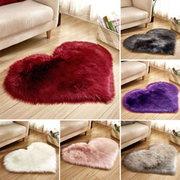 living room mats rugs Promo Codes - NewTextiles Shaggy Carpet For Living Room Home Warm Plush Floor Rugs fluffy Mats Kids Room Fur Area Rug Living Room Mats Silky Rugs