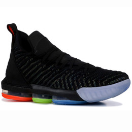 lebron 12 scarpe Sconti I'm King Nike Lebron 16 XVI 16S Mens Scarpe da basket I Promise White 1 Thru5 What The Fresh Red Bred Equality Oreo Trainer Sport Sneakers 7-12