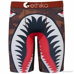 corti lunghi di nuotata Sconti Mens Boxers Americano Ethika resistente all'usura Mutande 2d Stampa Lunghi Boxer Moda uomo Pantaloncini da nuoto Moda