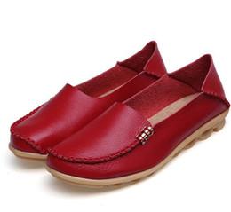 Argentina Zapatos de mujer Tallas grandes Zapatos planos para mujer Mocasines de cuero genuino Slip on Women Flat Oxford Pisos de ballet Feminino Oxford Suministro