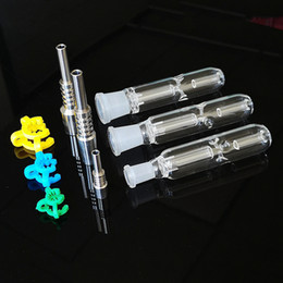 Collecteur de 14mm nector en Ligne-Nector Collectionneurs Dab Pipes paille super mini main titane clou Nector Collector Kit avec 10 mm 14 mm 19 mm Joint NC09