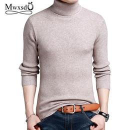 Mwxsd Marke Winter Mens Thick Warm Cashmere Pullover Pullover Männer  Rollkragen Gestreiften Pullover Klassische Wolle Strickwaren Pull Homme 86aebbb327