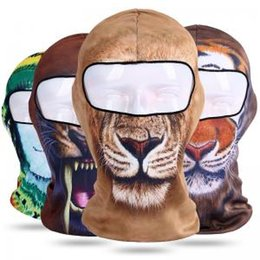 Winter Outdoor Animal Skull Balaclava 3D Print tiger lion Bicycle Cycling  Ski full Face Mask HAT Neck Cover cap headgear AAA1749 ef6d73542ea1