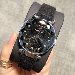 relógio designer feminino Desconto PABLO RAEZ designer de moda mulheres relógio de couro genuíno relógios de pulso de luxo relógio feminino cor preta moda lady dress watch estilo popular