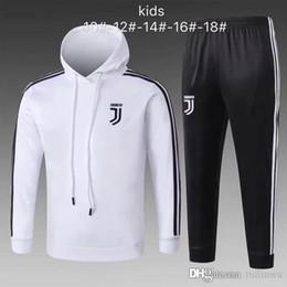 2018/19 chaqueta de Juventus para niños Traje de entrenamiento 2018 2019 niño RONALDO DYBALA MANDZUKIC chaqueta de chándal de niño de niño joven uniforme de sudadera desde fabricantes