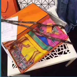 Роскошные дизайнерские шелковые шарфы весна-лето 2019 года, горячие продажи в Европе и США, дамская цветная печать, шелковые шарфы больших брендов от
