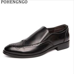 neue stil büro freizeitschuhe Rabatt 2019 neue Italien Stil Mode Männer Business Casual Brogue Schuhe Hochwertigem Leder Komfortable Männer Büro Oxford Müßiggänger
